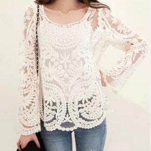 Sexy lace loose shirt DG102310FH