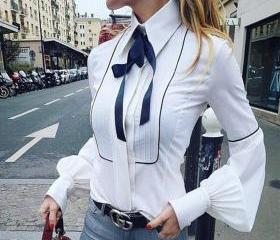 Women Bowknot Long-S..
