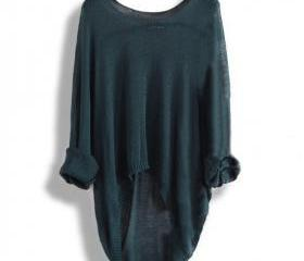 Long-sleeved knit sh..
