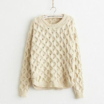 Round neck long-sleeved sweater AD100520HJ